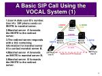 a basic sip call using the vocal system 1