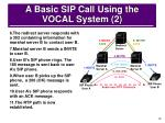 a basic sip call using the vocal system 2
