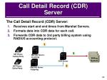 call detail record cdr server