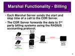 marshal functionality billing