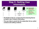 step c getting user information