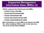 supported management information base mibs 2