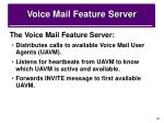 voice mail feature server