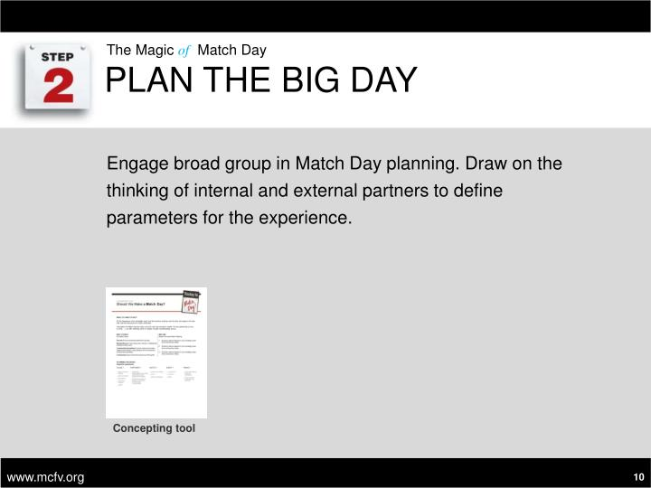 Plan the Big Day