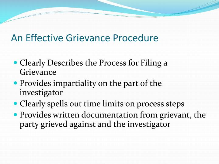 An Effective Grievance Procedure