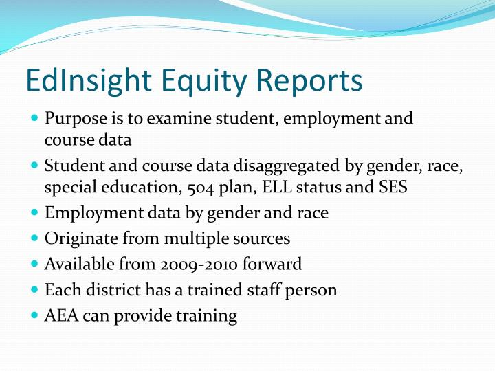 EdInsight Equity Reports