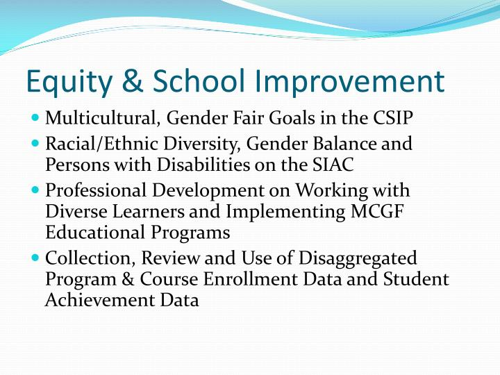 Equity & School Improvement