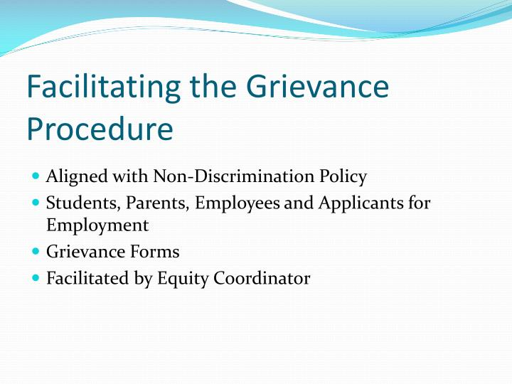 Facilitating the Grievance Procedure