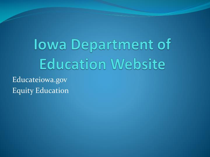 Iowa Department of Education Website