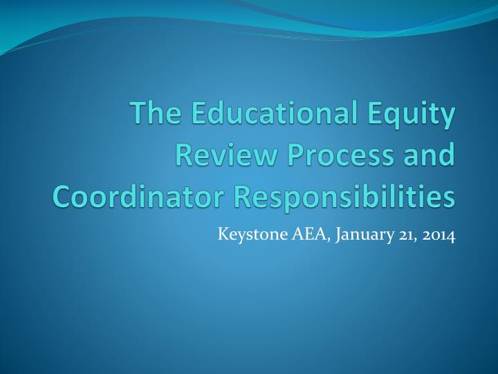 The Educational Equity