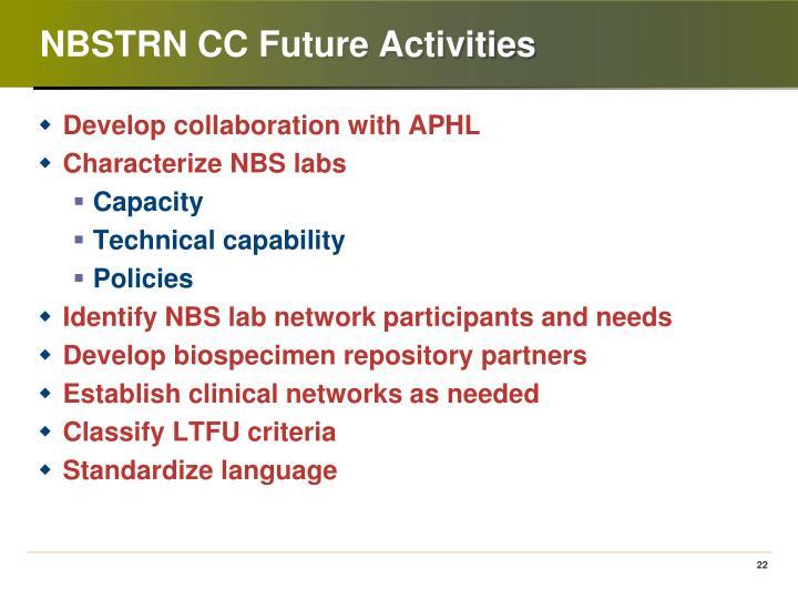 NBSTRN CC Future Activities
