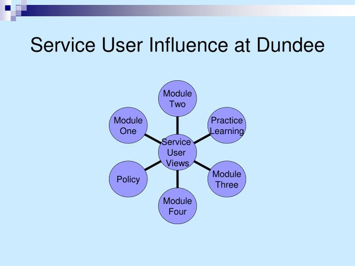 Service user influence at dundee