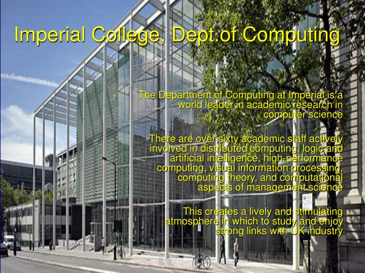 Imperial college dept of computing