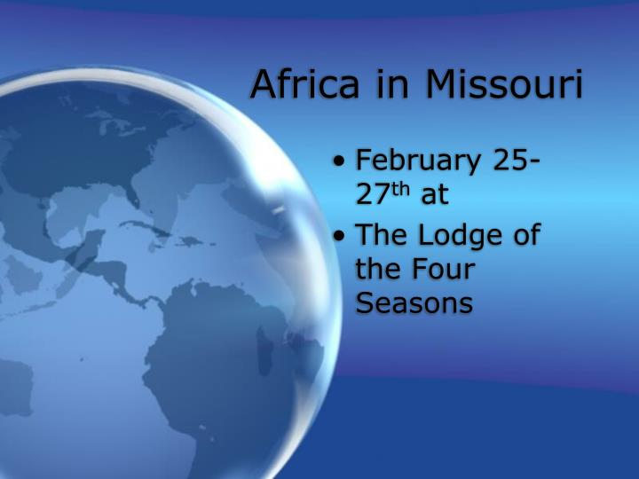 Africa in Missouri