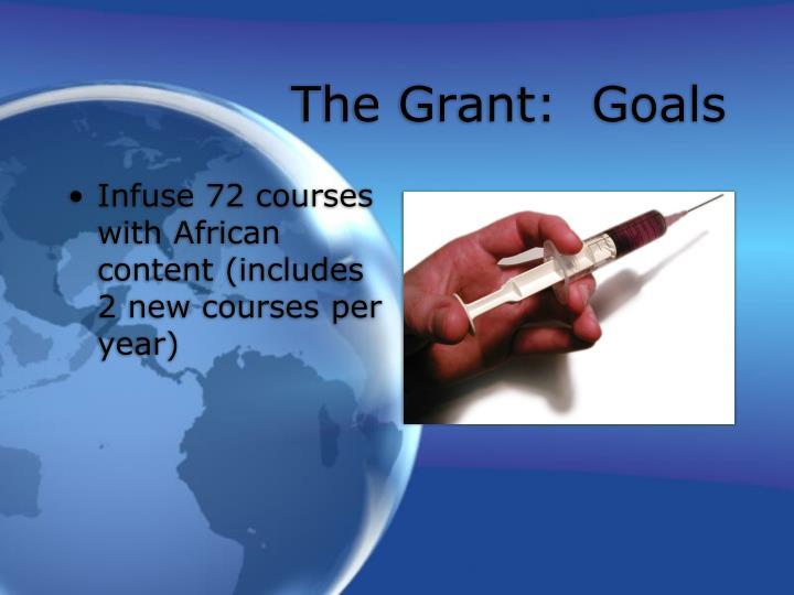 The Grant:  Goals