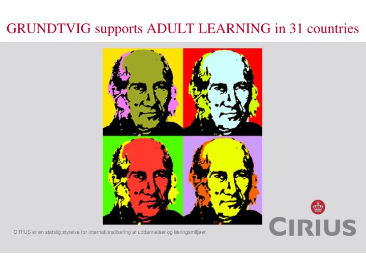 Grundtvig supports adult learning in 31 countries