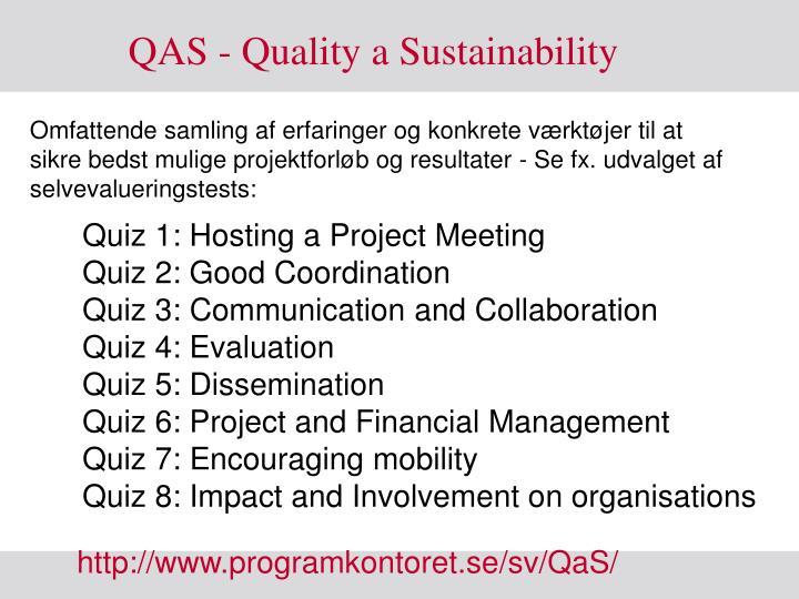 QAS - Quality a Sustainability