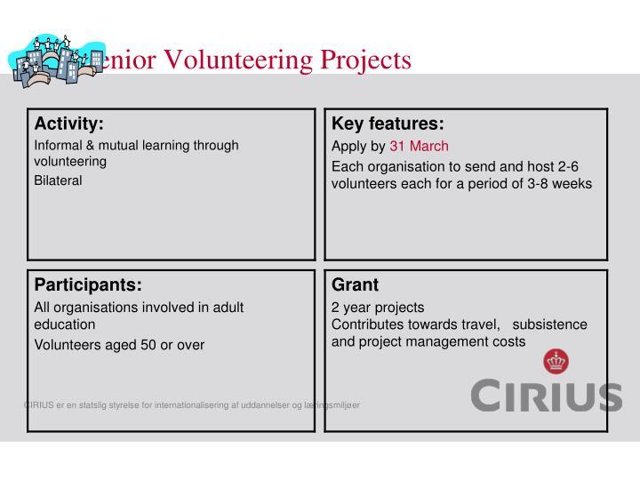 Senior Volunteering Projects