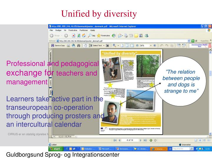 Unified by diversity