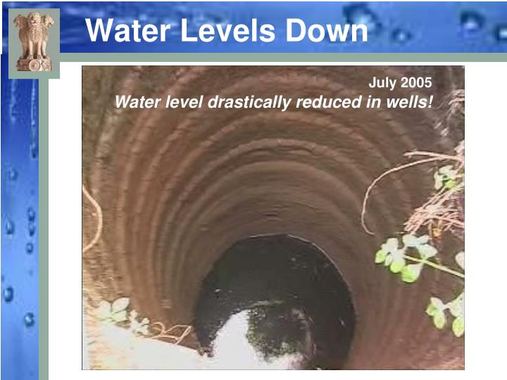 Water Levels Down