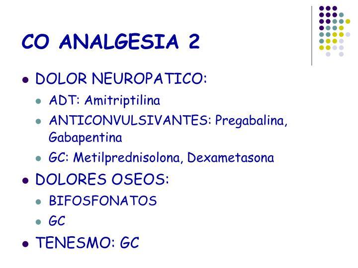 CO ANALGESIA 2