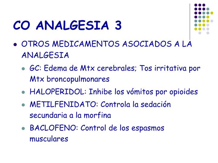 CO ANALGESIA 3