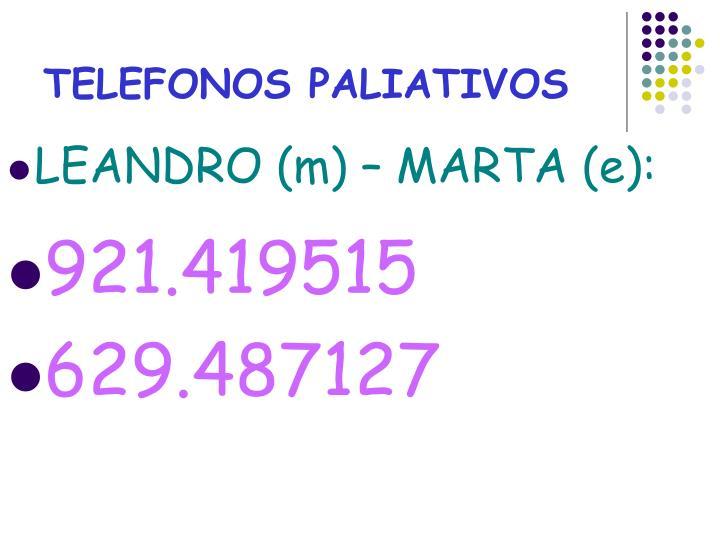 TELEFONOS PALIATIVOS