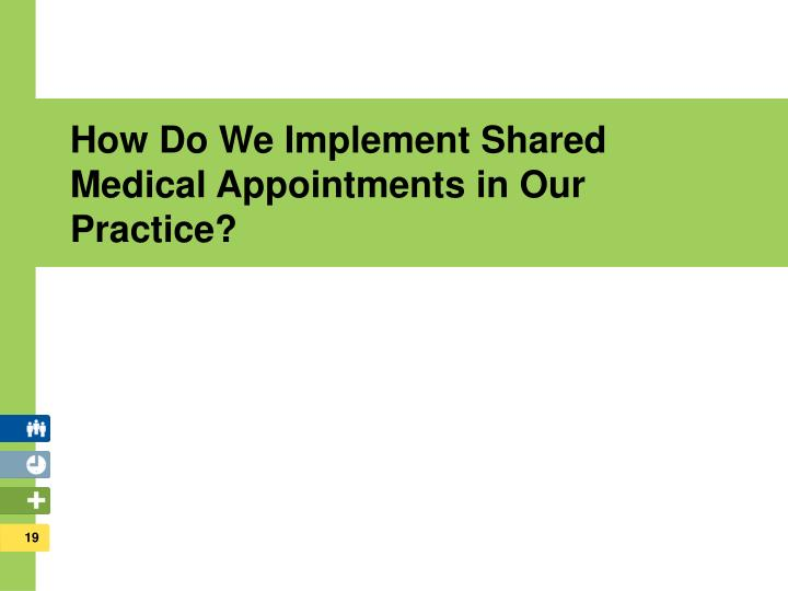 How Do We Implement Shared Medical Appointments in Our Practice?