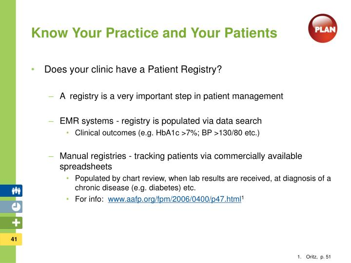 Know Your Practice and Your Patients