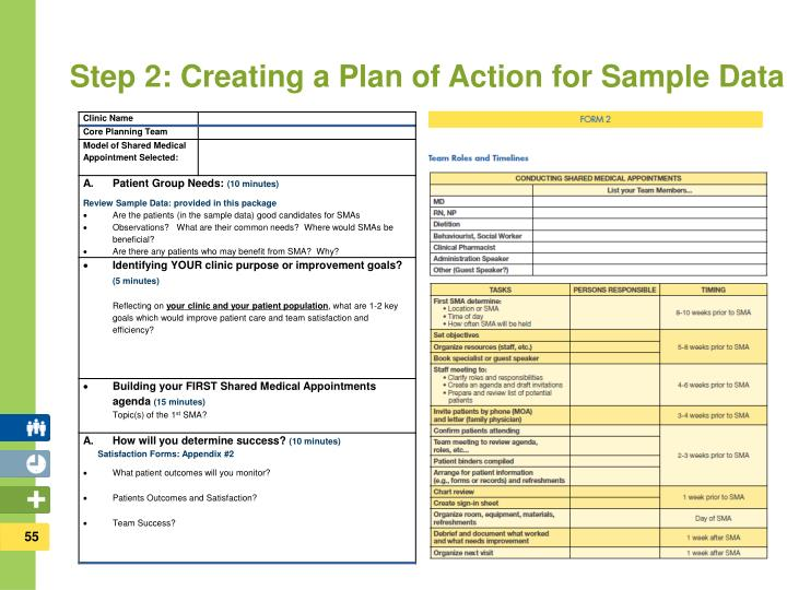 Step 2: Creating a Plan of Action for Sample Data