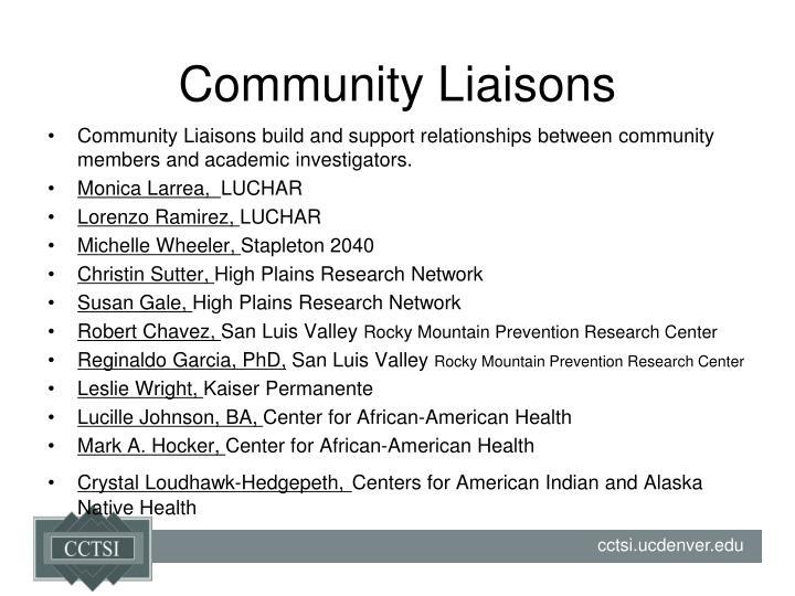 Community Liaisons