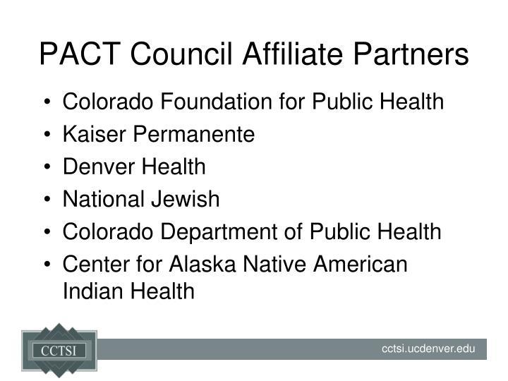 PACT Council Affiliate Partners