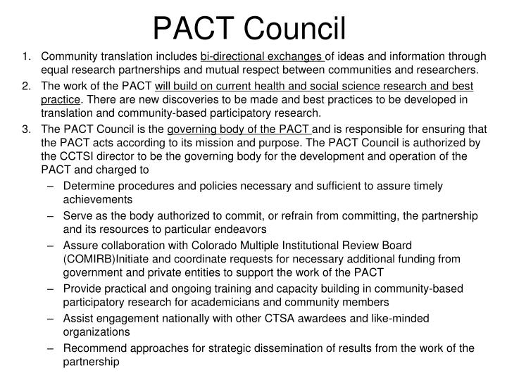 PACT Council