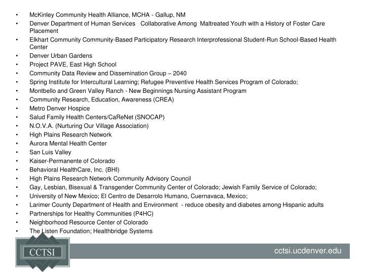 McKinley Community Health Alliance, MCHA - Gallup, NM