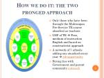 how we do it the two pronged approach