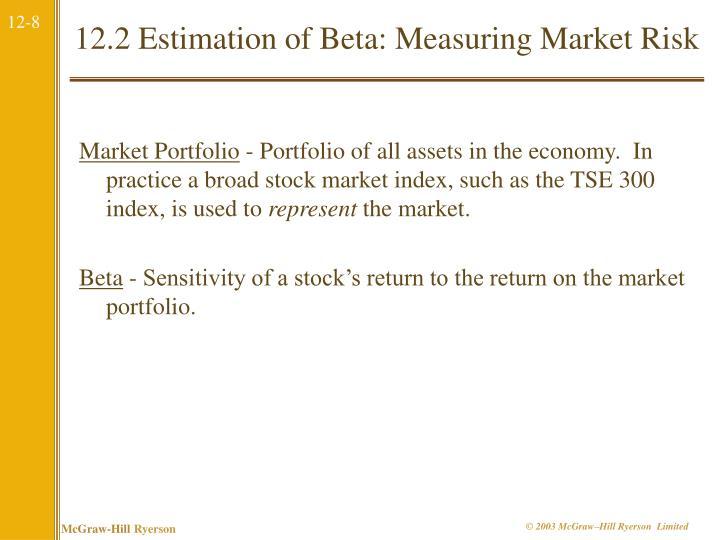 12.2 Estimation of Beta: Measuring Market Risk