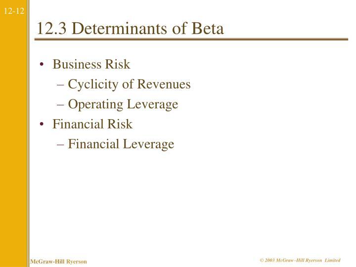 12.3 Determinants of Beta