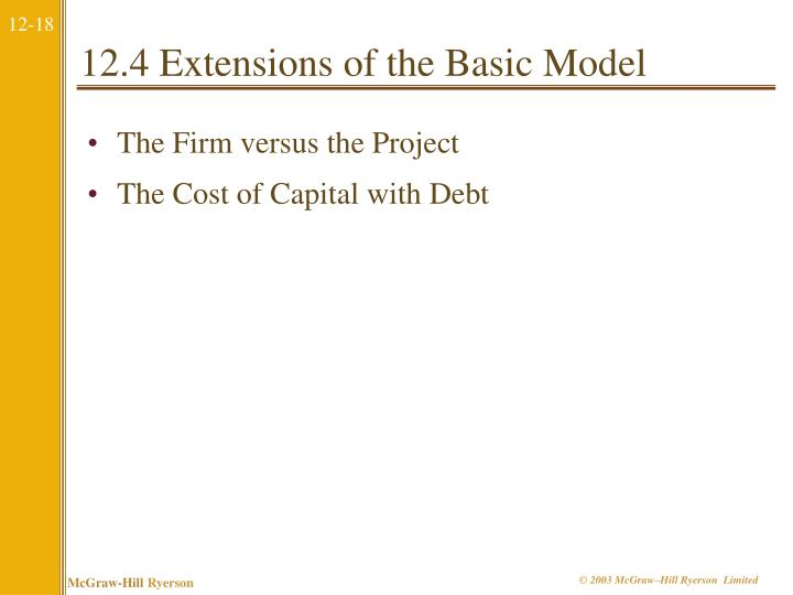 12.4 Extensions of the Basic Model