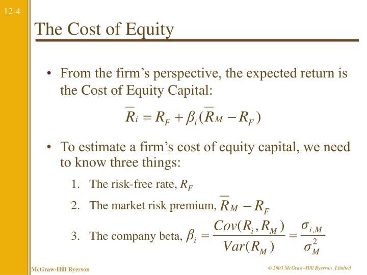 The market risk premium,