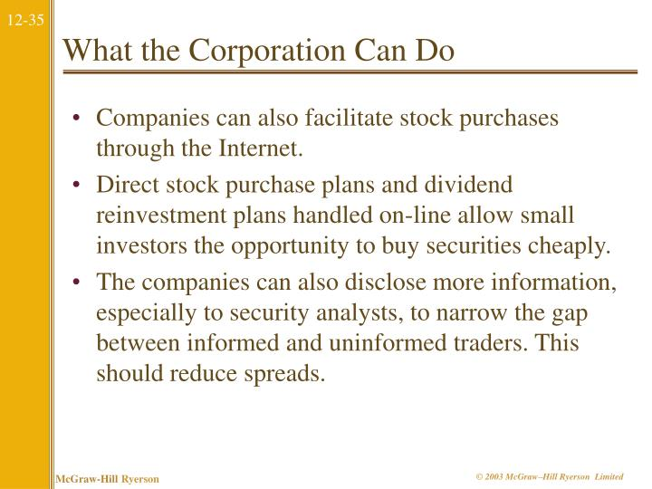 What the Corporation Can Do
