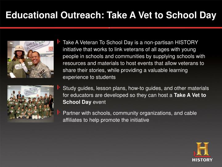 Educational Outreach: Take A Vet to School Day
