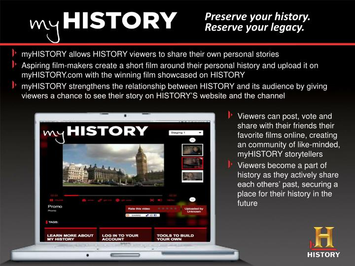 Preserve your history.
