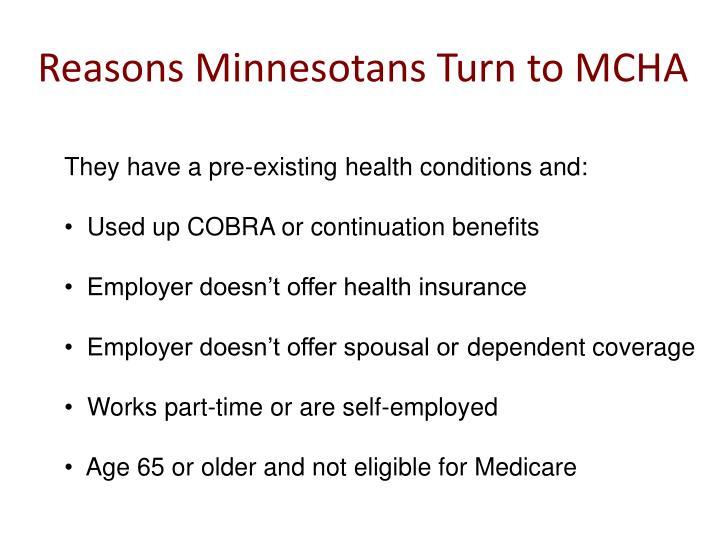 Reasons minnesotans turn to mcha