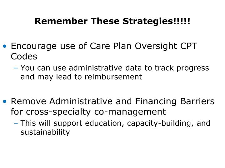 Remember These Strategies!!!!!