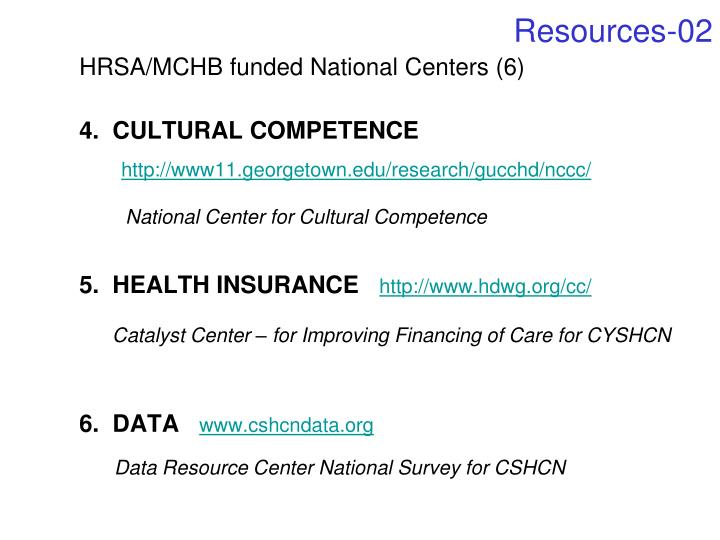 HRSA/MCHB funded National Centers (6)