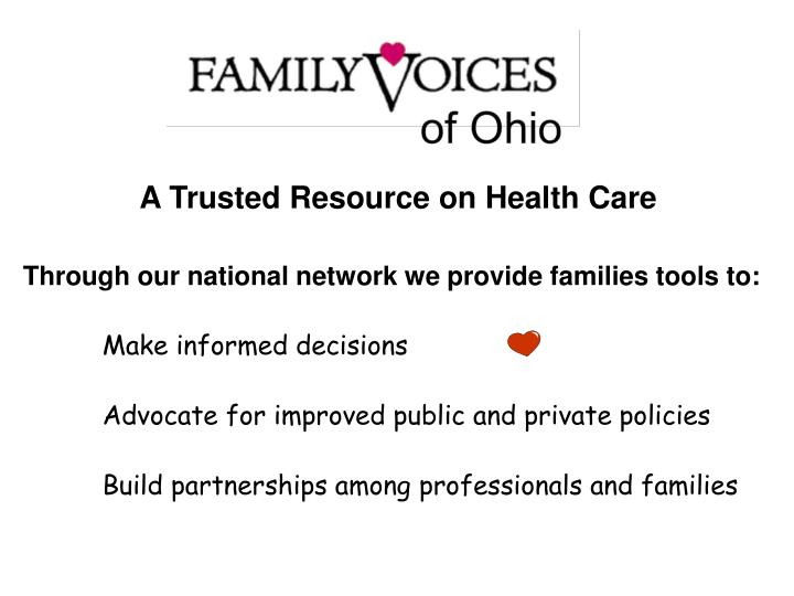 A Trusted Resource on Health Care
