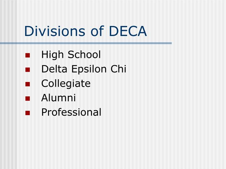 Divisions of DECA