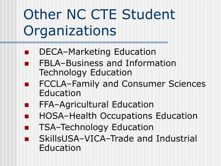 Other NC CTE Student Organizations