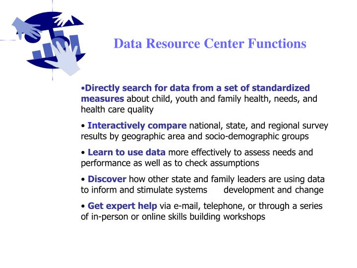 Data Resource Center Functions