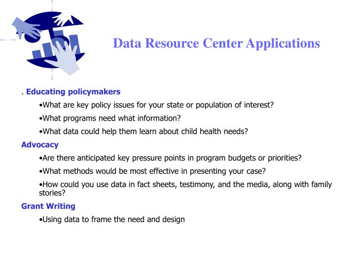 Data Resource Center Applications